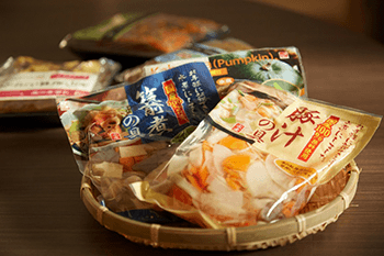 サラダ、カット野菜、水煮商品の提案